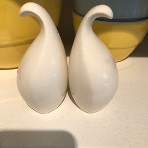 Midcentury modern salt and pepper shakers